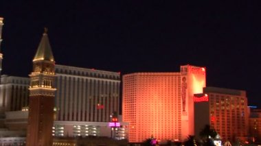 Las Vegas strip at sunset — Stock Video