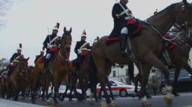 Horse Parade in Paris — Stock Video