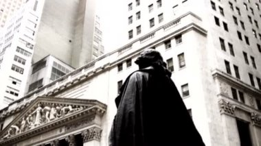 New York Stock Exchange building — Stock Video