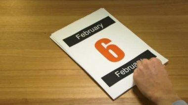 Pages on Calendar — 图库视频影像