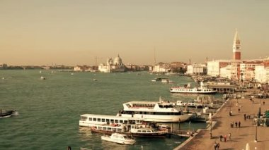 View of Venice from Grand Canal — Vídeo de Stock