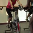 Class spinning bicycles — Stock Video #67032579
