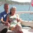 Couple embracing on a yacht — Stock Video #67033239