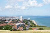 Pohled na Eastbourne z útesu Edge, Anglie, Velká Británie, Evropa — Stock fotografie