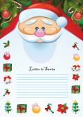 Letter to Santa Template — Stock Vector