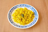 Poha, a breakfast item made of puffed rice — Stock Photo