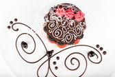 Dezert s jahodovou a blackberry — Stock fotografie