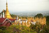 Temple roof and Stupa ,Sutaungpyai Pagoda,Mandalay Hill,Myanmar — Stock Photo