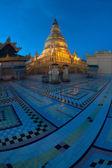 Twilight view of Soon U Pone Nya Shin Pagoda,Myanmar. — Stock Photo