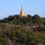 Постер, плакат: Pagoda on Sagaing hill Sagaing Division in Myanmar
