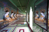 Row of Buddhas in U Min Thonze cave ,Sagaing hill,Myanmar. — Stock Photo