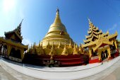 Shwemawdaw Paya Pagoda in Hongsawaddy ,Myanmar. — Stock Photo