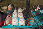 Buddha masks for sell. — Stock Photo
