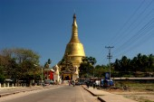 View of Shwemawdaw Pagoda in Bago ,Myanmar. — Stock Photo