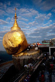 View of  Kyaikhiyo Pagoda ( Golden rock ) in Myanmar. — Stock Photo