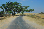Route at countryside in Myanmar . — Stock Photo