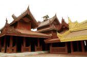 Ancient wood art in Mandalay Palace, Myanmar . — Stock Photo