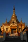 Golden pagoda in Shwe Oo Min Paya temple,Myanmar. — Stock Photo