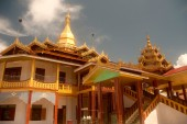 Hpaung Daw U Pagoda is the famous Temple in Myanmar. — Stock Photo