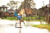 Life in Inle lake,Myanmar. — Stock Photo