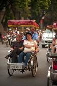 Tourist taking a cycro ride. — Photo