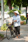Typical street vendor in Hanoi,Vietnam. — Stock Photo