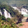 Ban Gioc Falls or Detian Falls are 2 waterfalls located of border on Vietnam and China. — Stock Photo #60445093