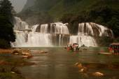 Datian waterfall ( Virtuous Heaven waterfall ) in China. — Stock Photo