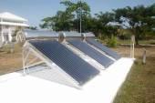 Solar glass for hot water systems. — Zdjęcie stockowe