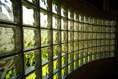 Wall from glass blocks . — Stockfoto