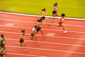 100m.in Thailand öppna Athletic VM 2013. — Stockfoto