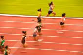 100m.in Thailand Open Athletic Championship 2013. — Stock Photo