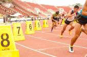 800 m.in Thailand Open Athletic Championship 2013. — Stock fotografie