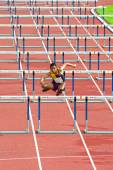 100 m. Hurdles in Thailand Open Athletic Championship 2013. — Stock fotografie