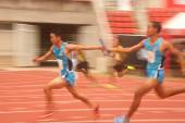 4x100m.Relay in Thailand Open Athletic Championship 2013. — Stock Photo