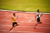 4x400m. Relais in Thailand offene athletische Weltmeisterschaft 2013. — Stockfoto