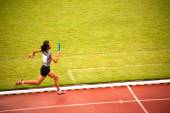 4x400m.Relay in Thailand Open Athletic Championship 2013. — Stock Photo
