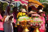 Parade of Loy Kratong Festival in Thailand. — Stock Photo