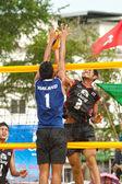 27 kampioenschap van Zuid-Oost-Aziatische Beach Volleybal. — Stockfoto