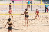 Beach volleyball in Thailand University games. — Stock Photo