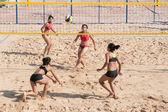 пляжный волейбол в таиландских университетских играх. — Стоковое фото
