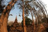 Ancient pagoda in Thai temple . — Stock Photo