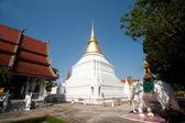 White Pagoda in Wat Phra Kaew Don Tao temple in Thailand. — Stock Photo