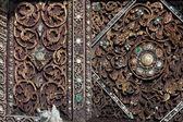 Ancient art at Thai church in Lampang province,Northern of Thailand. — Stock Photo