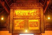 Thai art at ceiling of church. — ストック写真
