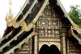 Thai art on roof church . — Photo