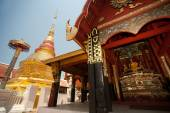 Pagoda in Pong Sanook temple in Northern of Thailand. — Stock Photo