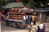 Big buses are common site in Myanmar. — Stock Photo