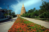 Pha That Chedi Sri Pho Thong Is Pagoda In Wat Ta It,Thailand. — Stock Photo