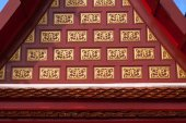 Thai art on temple roof. — Foto de Stock